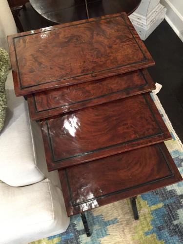 Garden Court Antiques - English Quartetto Stackable Nesting Tables, circa 1810