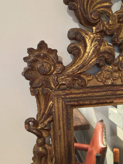 Garden Court Antiques in San Francisco: French Baroque Carved Giltwood mirror circa 1760
