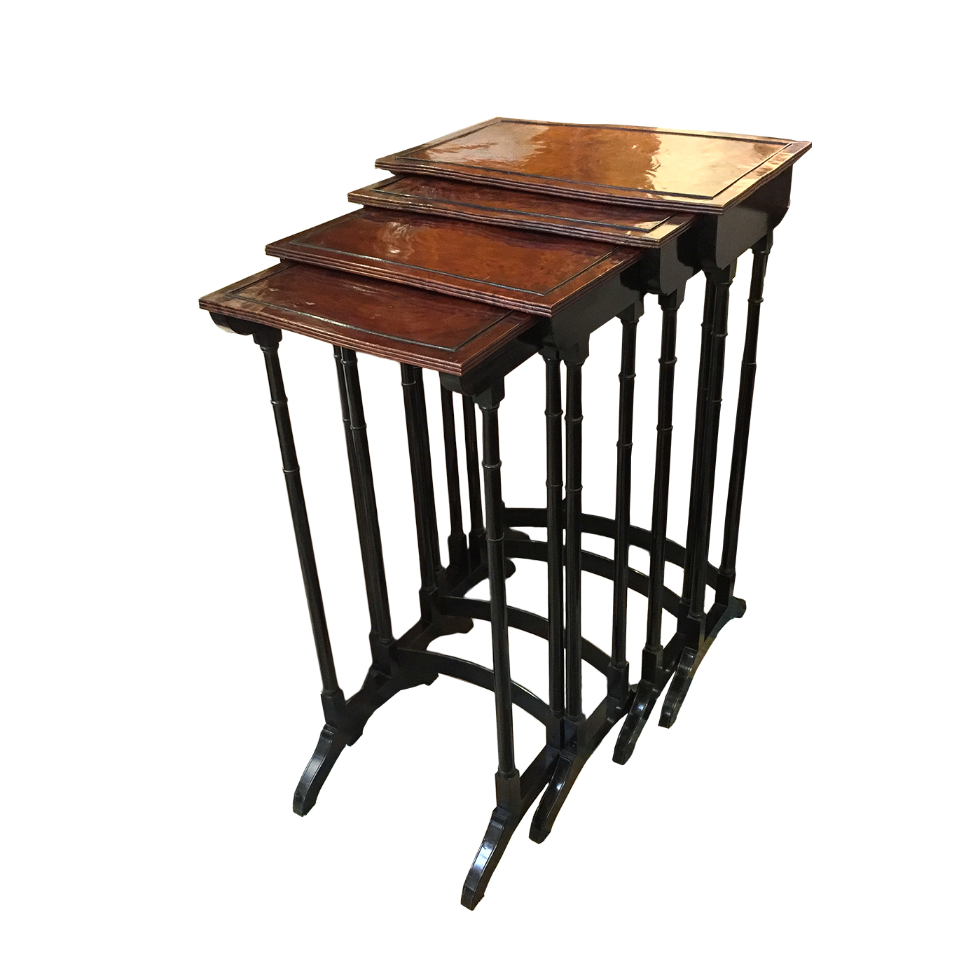 garden court antiques  english quartetto stackable nesting tables circa. english quartetto stackable nesting tables circa   garden