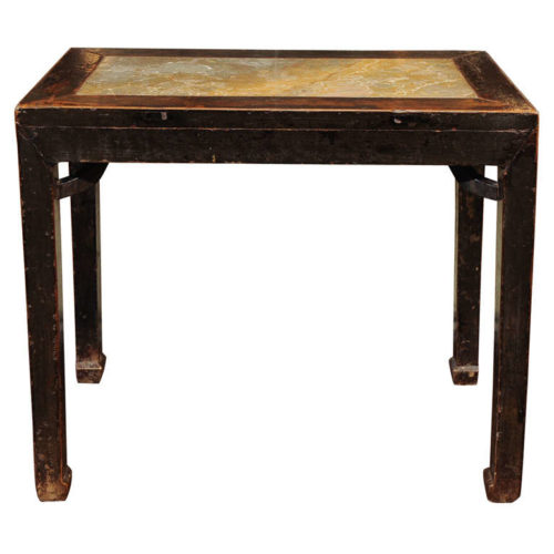 Garden Court Antiques San Francisco Chinese Lacquered Elm and Stone Wine Table, Shanxi Province, circa 1720