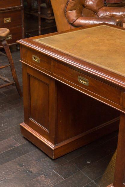 Mahogany Campaign Partners Desk, circa 1860
