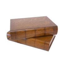 Garden Court Antiques: Pair of Italian Chestnut Book Boxes, late 19th Century