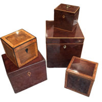 A Collection of Five Charming Georgian Boxes, from 1780-1810 Garden Court Antiques