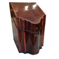 A Well-Figured Mahogany & Satinwood George III Sheraton Period Knife Box