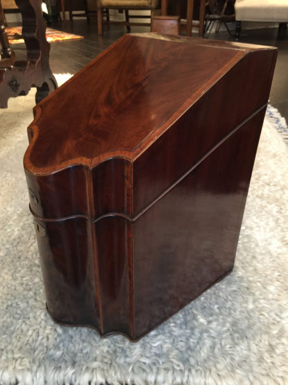 A Well-Figured Mahogany & Satinwood George III Sheraton Period Knife Box