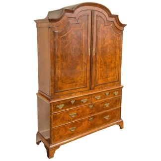 Garden Court Antiques, George I Burl Walnut Bureau Bookcase, circa 1720