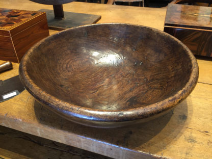 Garden Court Antiques, San Francisco - english Large-Scale Turned Fruitwood Bowl, English, circa 1870