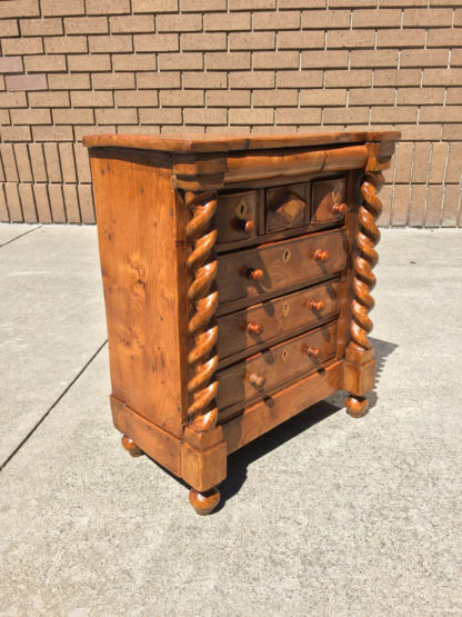 A Scottish Gentlemen's Chest Cabinet Maker's Model in Solid Ash, circa 1850