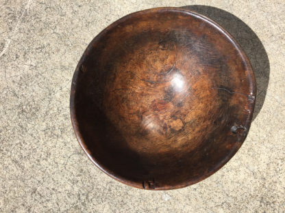 Garden Court Antiques, San Francisco: A Substantial English Turned Elmwood Bowl, mid 19th Century
