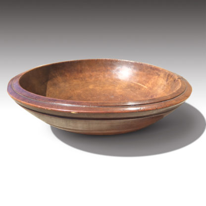 A Turned Fruitwood Bowl with Herb Chopper, circa 1880