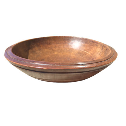 Garden Court Antiques A Turned Fruitwood Bowl with Herb Chopper, circa 1880
