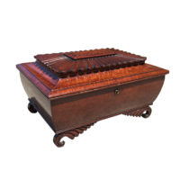 Garden Court Antiques, San Francisco - A Very Fine Irish Regency Mahogany Box with Fitted Interior, early 19th Century