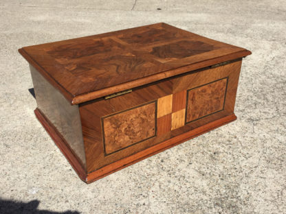 Garden Court Antiques, San Francisco - 18th Century German Specimen Wood Box with Burr Walnut Inlays, Circa 1790