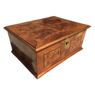 Garden Court Antiques, San Francisco - 18th Century German Specimen Wood Box with Burr Walnut Inlays, Circa 1790