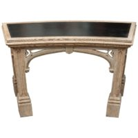 Garden Court Antiques, San Francisco - Carved Bleached Oak Neo-Gothic Console; English, circa 1890