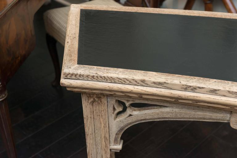Garden Court Antiques, San Francisco   Carved Bleached Oak Neo Gothic  Console; English