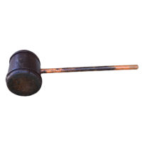 Garden Court Antiques, San Francisco - A very large antique wooden mallet, circa 1880.