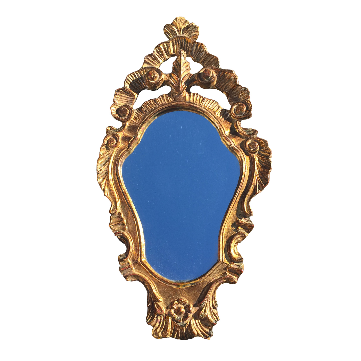 very small scale shield form giltwood mirror french circa