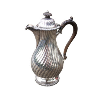 Garden Court Antiques, San Francisco - antique English silver-plated hot chocolate pot, circa 1850