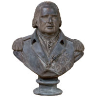 Garden Court Antiques, San Francisco Painted Plaster Bust Depicting Louis XVIII, circa 1820