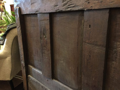 """Garden Court Antiques, San Francisco - Paneled Oak Box Seat Settle Dated and Initialed """"I. T. 1721"""""""