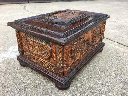 Garden Court Antiques, San Francisco - A very large, rare Northern Italian baroque chest circa 1700