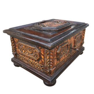 Garden Court Antiques, San Francisco - A very large, rare Northern Italian baroque chest circa 1700