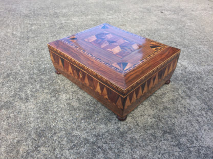 Garden Court Antiques, San Francisco An Early English Marquetry Specimen Wood Box, First half of the 19th Century