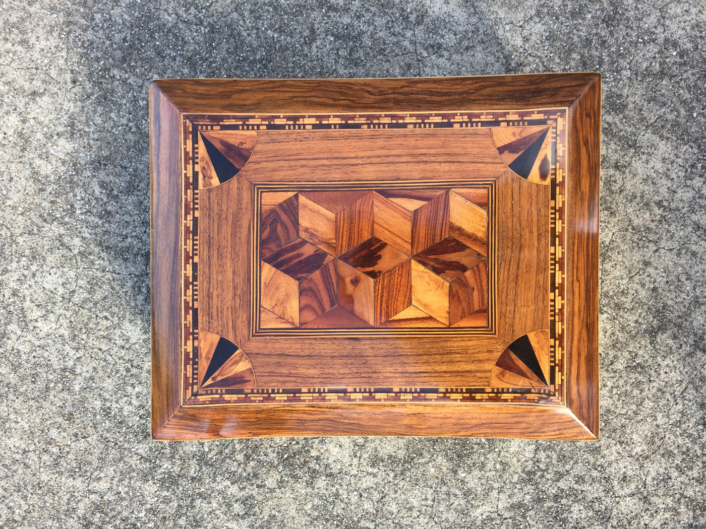 An Early English Marquetry Specimen Wood Box First Half Of The 19th Century