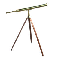 "Garden Court Antiques, San Francisco English, Newton & Co.'s Astronomical & ""Look-Out"" telescope on stand, brass & mahogany, late 19th Century,"