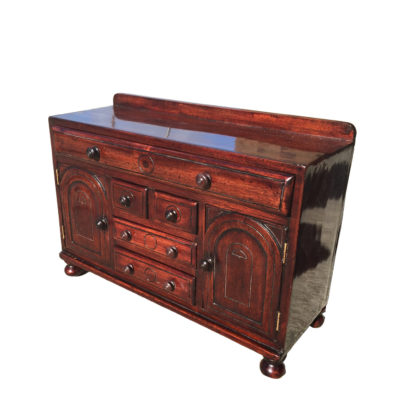Garden Court Antiques, San Francisco - A Provincial Scottish mahogany miniature sideboard, early 19th Century.
