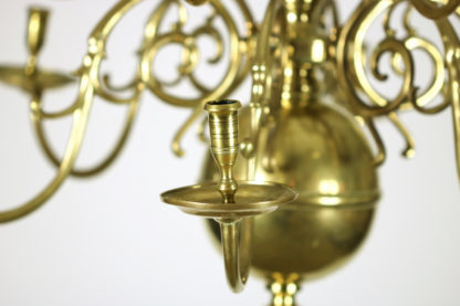 Garden Court Antiques, San Francisco A Dutch Brass triple tier, 18 light Chandelier, circa 1860