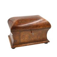 Walnut Tea Caddy, English Circa 1840-1850