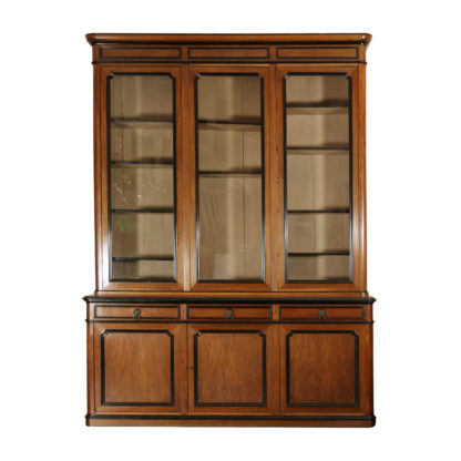 Garden Court Antiques, San Francisco - An impressive French Walnut Bureau Bookcase with ebonized trim and original glazing. French circa 1860
