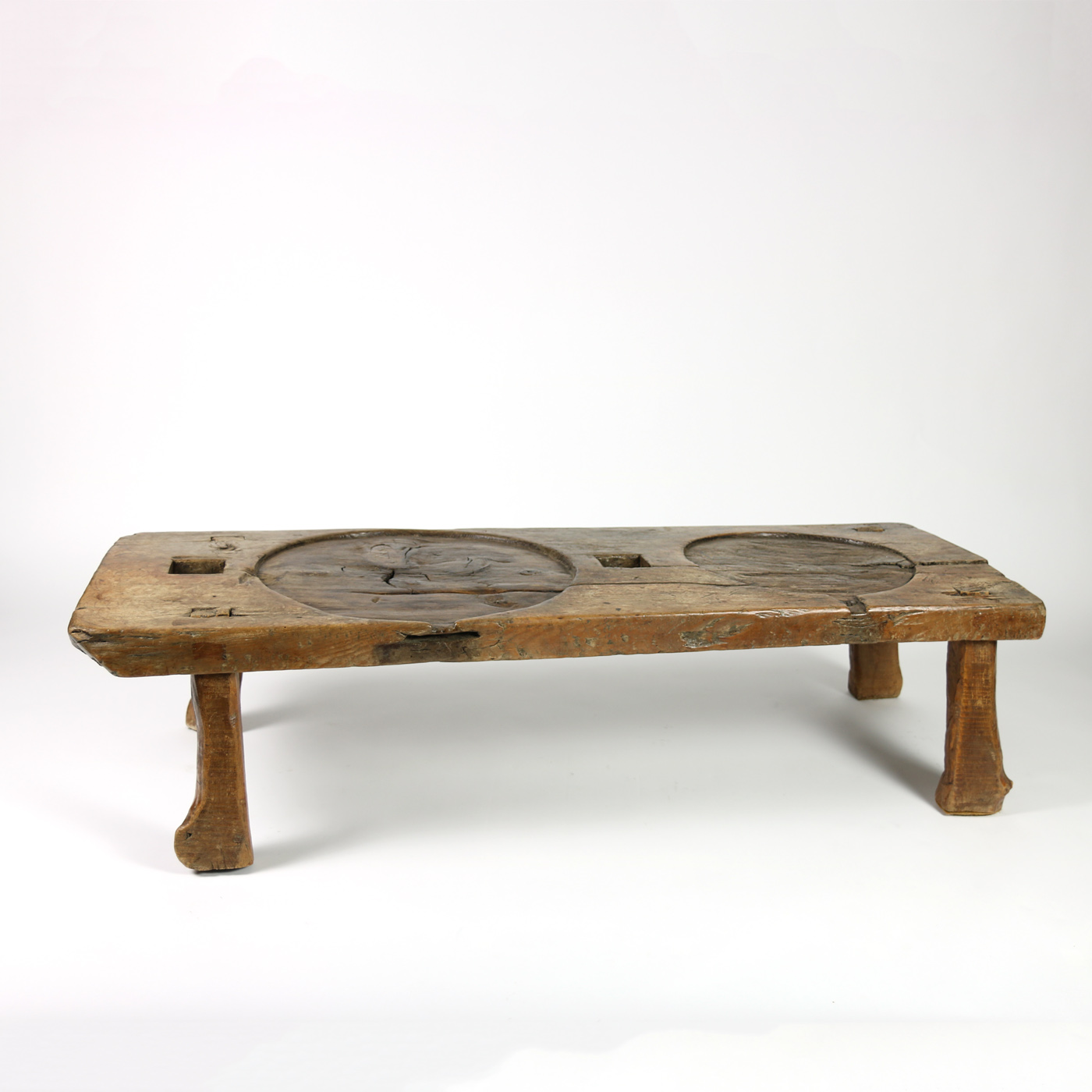 Garden Court Antiques, San Francisco   French Walnut Element From A Cheese  Press Reworked As