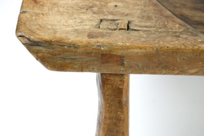 Garden Court Antiques, San Francisco - French Walnut Element from a Cheese Press Reworked as a Low Table; circa 1800