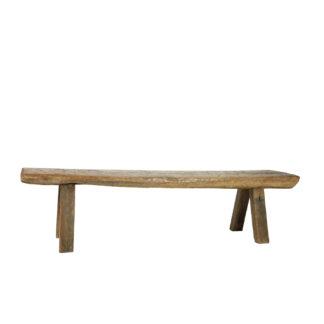 Garden Court Antiques, San Francisco - A Heavy & Rustic Solid Plank Oak Work Bench, English Circa 1820.