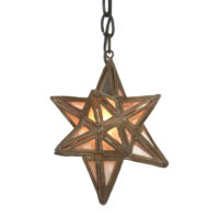 Garden Court Antiques, San Francisco Moroccan Metal and Glass Star Lantern, circa 1930