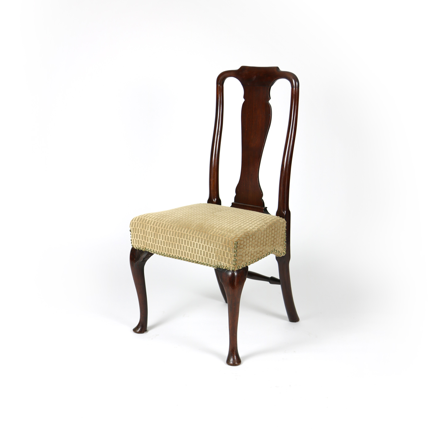Garden Court Antiques, San Francisco 18th Century Walnut Dining Chair with Queen  Anne Legs, - 18th Century Walnut Dining Chair With Queen Anne Legs, English Cira