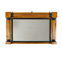 Garden Court Antiques, San Francisco Bird's-Eye Maple Frame with Ebony Details, English Circa 1870