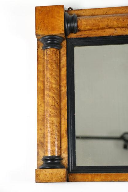 Garden Court Antiques, San Francisco Bird's-Eye Maple Frame with Ebony Details, English Circa 1870