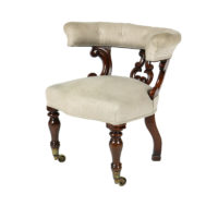 Garden Court Antiques, San Francisco A Carved Mahogany Library Chair; English Circa 1850