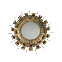Garden Court Antiques, San Francisco Gilt Tole Starburst Mirror Circa 1900.