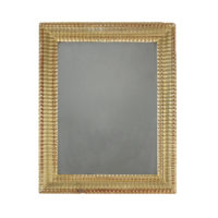 Garden Court Antiques, San Francisco Giltwood Mirror Frame with Ribbed Pattern, English Circa 1850