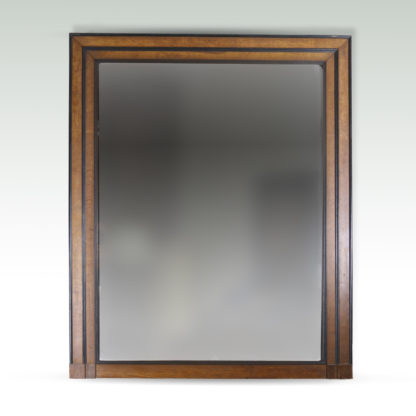 Garden Court Antiques, San Francisco A handsome large-scale oak and ebony mirror frame; English, Circa 1840.