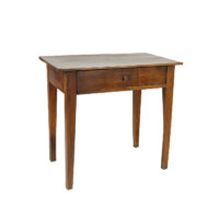 Garden Court Antiques, San Francisco - A Small French Walnut Side Table with a Single Drawer and Tapered Legs, Circa 1850