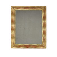 Garden Court Antiques, San Francisco Small Lobbed Giltwood Mirror, French circa 1850.