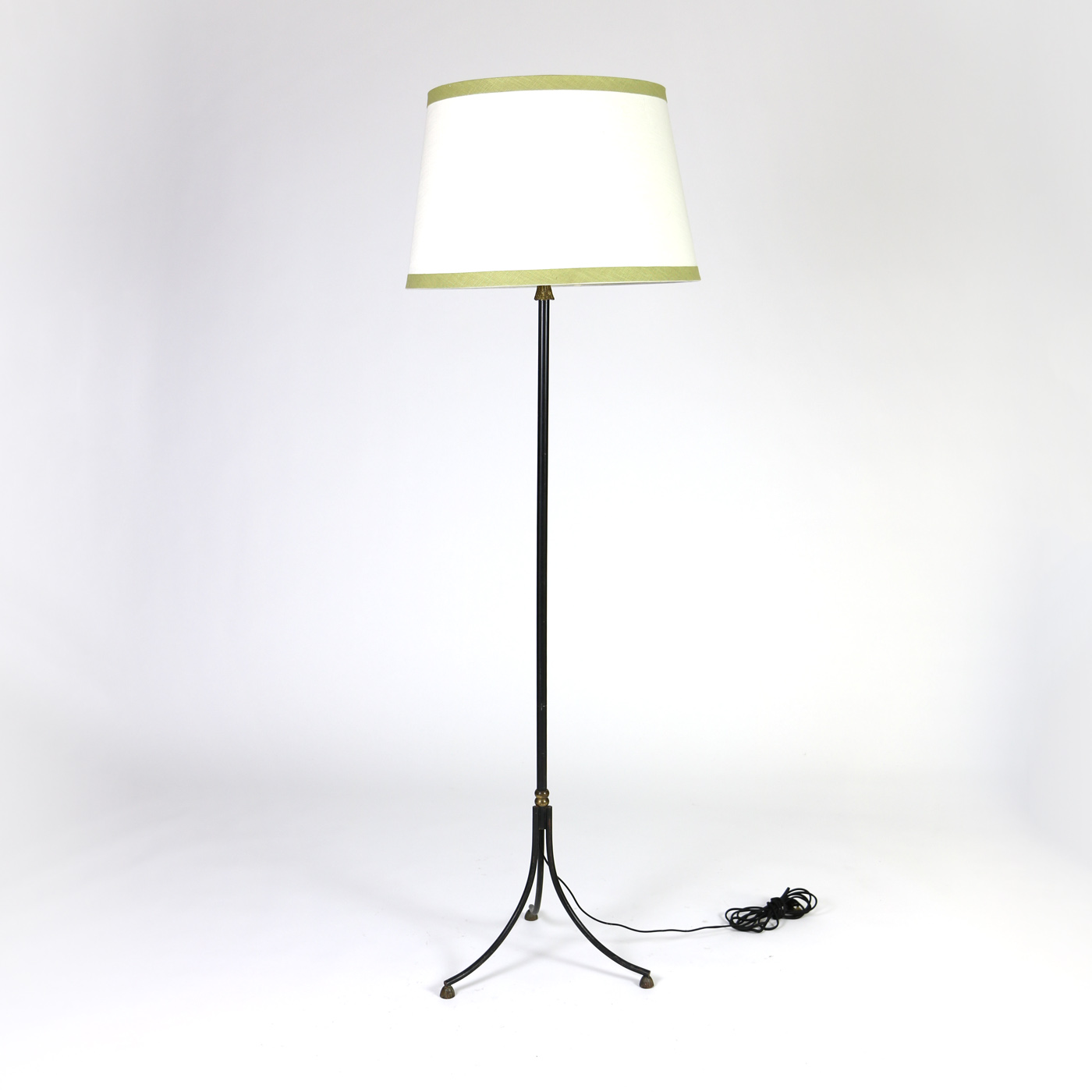 1920 39 s black painted metal bronze floor lamp w bronze for 1920 floor lamp