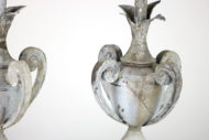 Garden Court Antiques, San Francisco Pair of Zinc Finials, French circa 1880