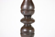 Garden Court Antiques, San Francisco - Pair of Overscale Turned Oak Candle Sticks; English, circa 1870